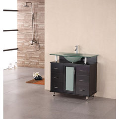 Buy Design Element Huntington 36 Inch Espresso Single Sink Vanity Set on sale online