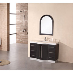 Buy Design Element Jade 48 Inch Single Sink Vanity Set w/ Travertine Stone Countertop on sale online