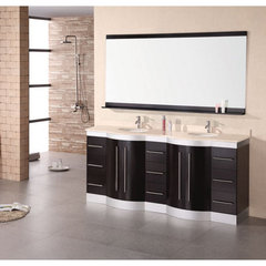 Buy Design Element Jasper 72 Inch Double Sink Vanity Set w/ Travertine Stone Countertop on sale online