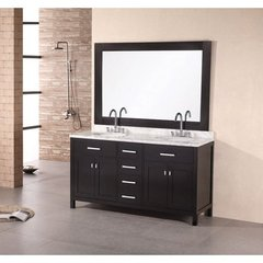 Buy Design Element London 61 Inch Double Sink Bathroom Vanity Set on sale online