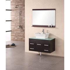 Buy Design Element Madrid 36 Inch Single Espresso Sink Bathroom Vanity Set on sale online