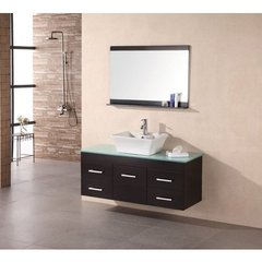 Buy Design Element Madrid 48 Inch Espresso Single Sink Bathroom Vanity Set on sale online