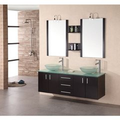 Buy Design Element Modena 60 Inch Espresso Double Sink Bathroom Vanity Set on sale online