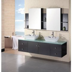 Buy Design Element Portland 72 Inch Espresso Double Sink Vanity Set on sale online