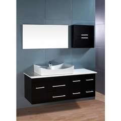 Buy Design Element Springfield 53 Inch Espresso Single Sink Bathroom Vanity Set on sale online