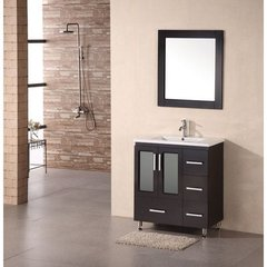 Buy Design Element Stanton 30 Inch Modern Bathroom Vanity Set w/ Drop In Sink on sale online