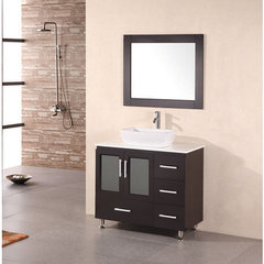 Buy Design Element Stanton 36 Inch Modern Bathroom Vanity Set w/ Vessel Sink on sale online
