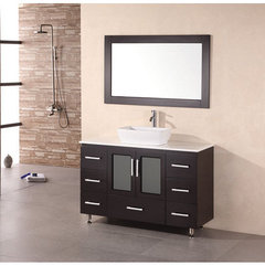 Buy Design Element Stanton 48 Inch Modern Bathroom Vanity Set w/ Vessel Sink on sale online