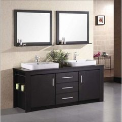Buy Design Element Washington Espresso 72 Inch Double Sink Bathroom Vanity Set on sale online