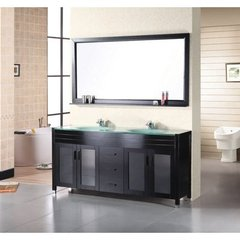 Buy Design Element Waterfall 60 Inch Espresso Double Sink Bathroom Vanity Set on sale online