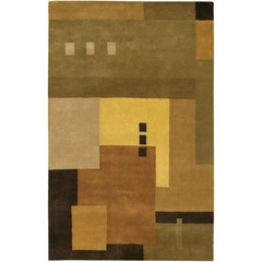 Buy Chandra Rugs Dream Hand-Tufted Contemporary Orange Rug - DRE3111 on sale online