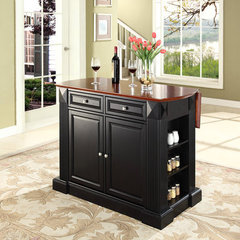 Buy Crosley Furniture Drop Leaf Breakfast Bar Top Kitchen Island in Black on sale online