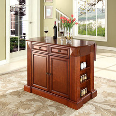 Buy Crosley Furniture Drop Leaf Breakfast Bar Top Kitchen Island in Classic Cherry on sale online