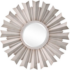 Buy Cooper Classics Dylan 32 Inch Round Mirror in Silver on sale online