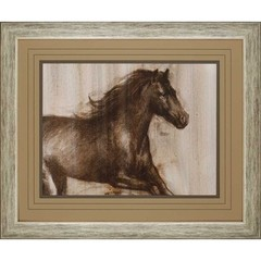 Buy Paragon Dynamic Stallion I 45x38 Framed Wall Art  on sale online