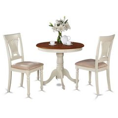 Buy East West Furniture Antique 3 Piece 36x36 Round Dining Room Set w/ 2 Side Chairs on sale online
