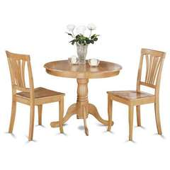 Buy East West Furniture Antique 3 Piece 36x36 Round Dining Room Set w/ 2 Kitchen Chairs on sale online