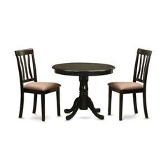 Buy East West Furniture Antique 3 Piece 36x36 Round Dining Room Set on sale online