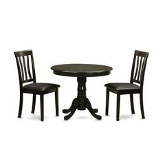 Buy East West Furniture Antique 3 Piece 36x36 Round Solid Wood Dining Room Set in Cappuccino on sale online