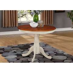 Buy East West Furniture Antique 36x36 Round Dining Table in Buttermilk and Cherry on sale online