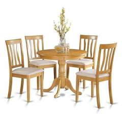 Buy East West Furniture Antique 5 Piece 36x36 Round Dining Room Set and 4 Dining Chairs on sale online