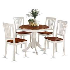 Buy East West Furniture Antique 5 Piece 36x36 Round Dining Room Set in Buttermilk and Cherry on sale online