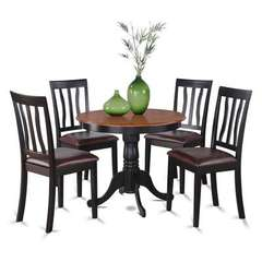 Buy East West Furniture Antique 5 Piece 36x36 Round Dining Room Set w/ 4 Chairs on sale online