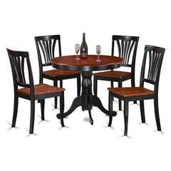 Buy East West Furniture Antique 5 Piece 36x36 Round Dining Room Set w/ 4 Dining Chairs on sale online