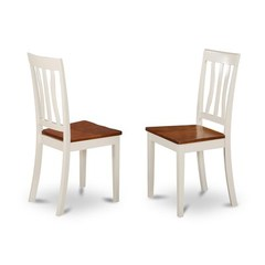 Buy East West Furniture Antique Kitchen Chair w/ Solid Wood Seat (Set of 2) on sale online