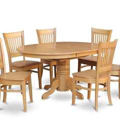 Buy East West Furniture Avon 5 Piece 60x42 Oval Dining Room Set Table w/ 4 Dinette Chairs on sale online