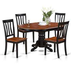 Buy East West Furniture Avon 5 Piece 60x42 Oval Dining Table Set w/ 4 Dining Chairs on sale online