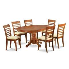 Buy East West Furniture Avon 7 Piece 60x42 Oval Dining Room Set w/ 6 Kitchen Chairs on sale online