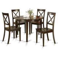 Buy East West Furniture Boston 5 Piece 42x42 Round Kitchen Table Set w/ 4 Wood Chairs on sale online