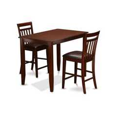 Buy East West Furniture Buckland 3 Piece 48x30 Rectangular Pub Table Set w/ 2 Kitchen Chairs on sale online