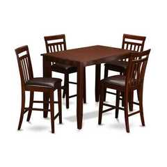 Buy East West Furniture Buckland 5 Piece 48x30 Rectangular Counter Height Set w/ 4 Chairs on sale online