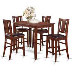 Buy East West Furniture Buckland 5 Piece 48x30 Rectangular Counter Height Set w/ 4 Stools on sale online