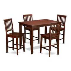 Buy East West Furniture Buckland 5 Piece 48x30 Rectangular Counter Height Set w/ 4 Wood Chairs on sale online
