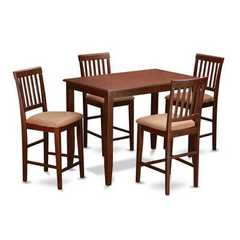 Buy East West Furniture Buckland 5 Piece 48x30 Rectangular Pub Table Set w/ 4 Chairs on sale online