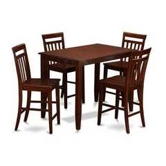 Buy East West Furniture Buckland 5 Piece 48x30 Rectangular Pub Table Set w/ 4 Wood Stools on sale online