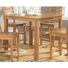 Buy East West Furniture Cafe Pub 42x42 Square Counter Height Table in Natural Oak on sale online