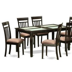 Buy East West Furniture Capri 5 Piece 60x36 Dining Room Set in Cappuccino on sale online
