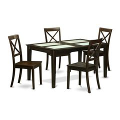 Buy East West Furniture Capri 5 Piece 60x36 Dining Room Set w/ 4 Kitchen Chairs on sale online