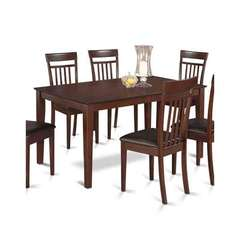 Buy East West Furniture Capri 5 Piece 60x36 Dining Table Set in Mahogany on sale online
