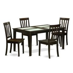 Buy East West Furniture Capri 5 Piece 60x36 Dining Table Set w/ 4 Dining Chairs on sale online