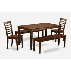 Buy East West Furniture Capri 5 Piece 60x36 Rectangular Dining Room Set /w 2 Benches on sale online
