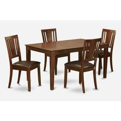 Buy East West Furniture Capri 5 Piece 60x36 Rectangular Dining Room Set w/ 4 Chairs on sale online