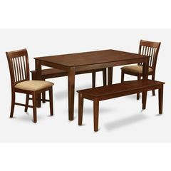Buy East West Furniture Capri 5 Piece 60x36 Rectangular Dining Room Set w/ 4 Dinette Chairs on sale online