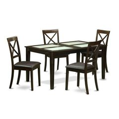 Buy East West Furniture Capri 5 Piece 60x36 Rectangular Dining Table Set w/ 4 Chairs on sale online