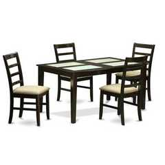 Buy East West Furniture Capri 5 Piece 60x36 Rectangular Dining Table Set w/ 4 Dining Chairs on sale online