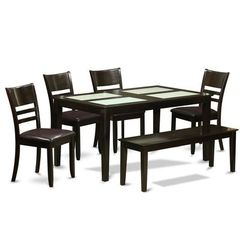 Buy East West Furniture Capri 6 Piece 60x36 Rectangular Kitchen Table Set w/ 4 Chairs on sale online